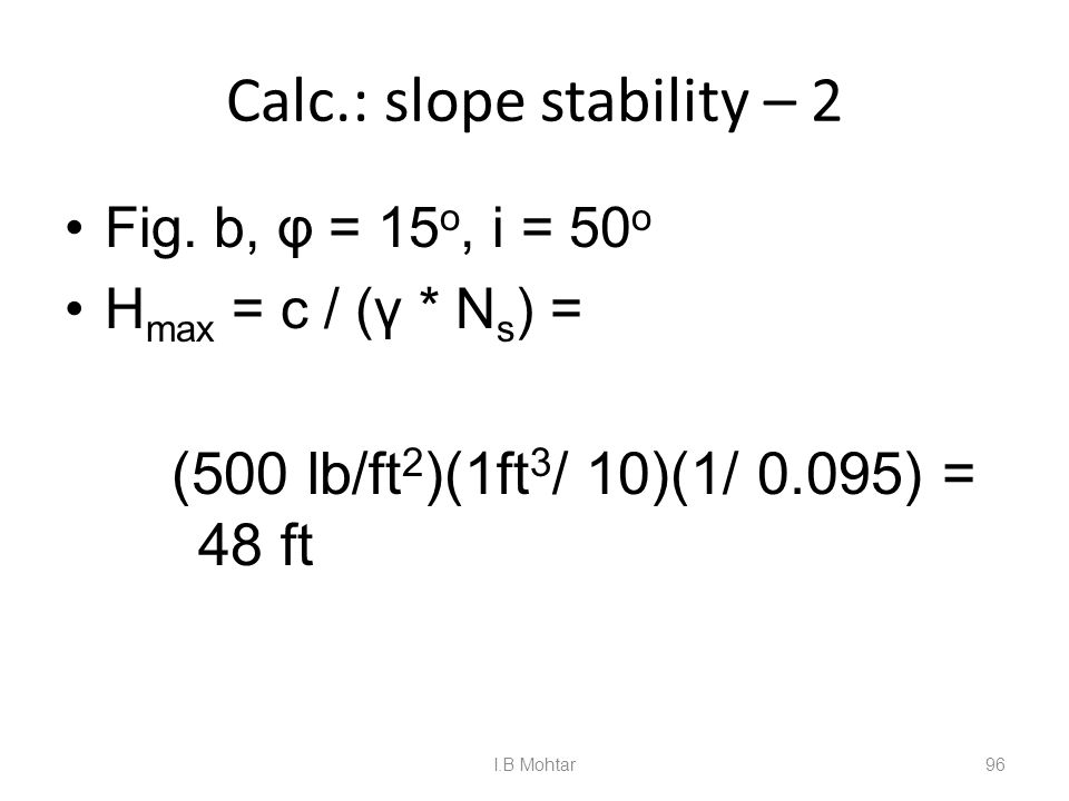 96 Calc.: slope stability – 2 Fig.