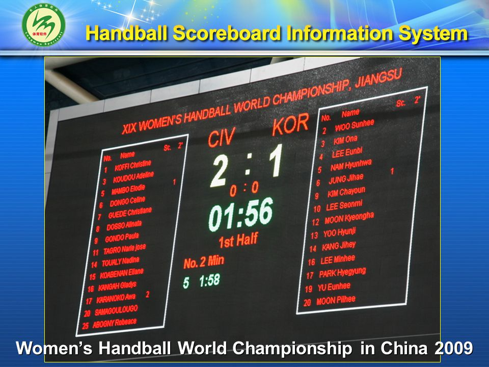 Applications The 6 th East Asian Handball Club Championship In China 2009 The 6 th East Asian Handball Club Championship In China 2009 China Cup Men's Handball Tournament 2010 China Cup Men's Handball Tournament 2010