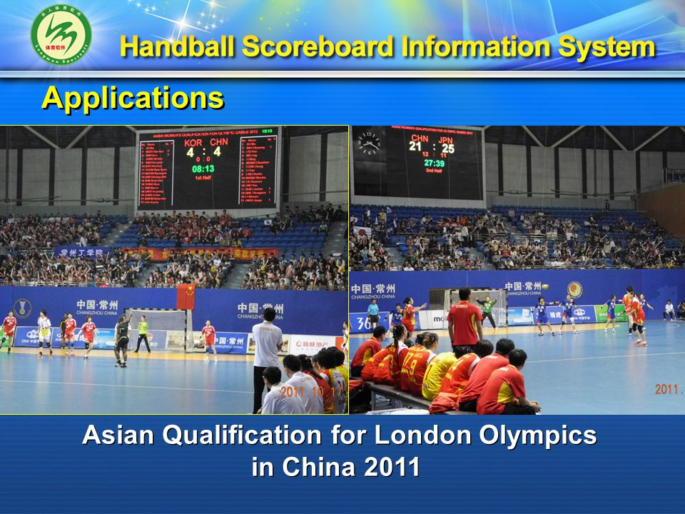 Applications Asian Qualification for London Olympics in China 2011 Asian Qualification for London Olympics in China 2011