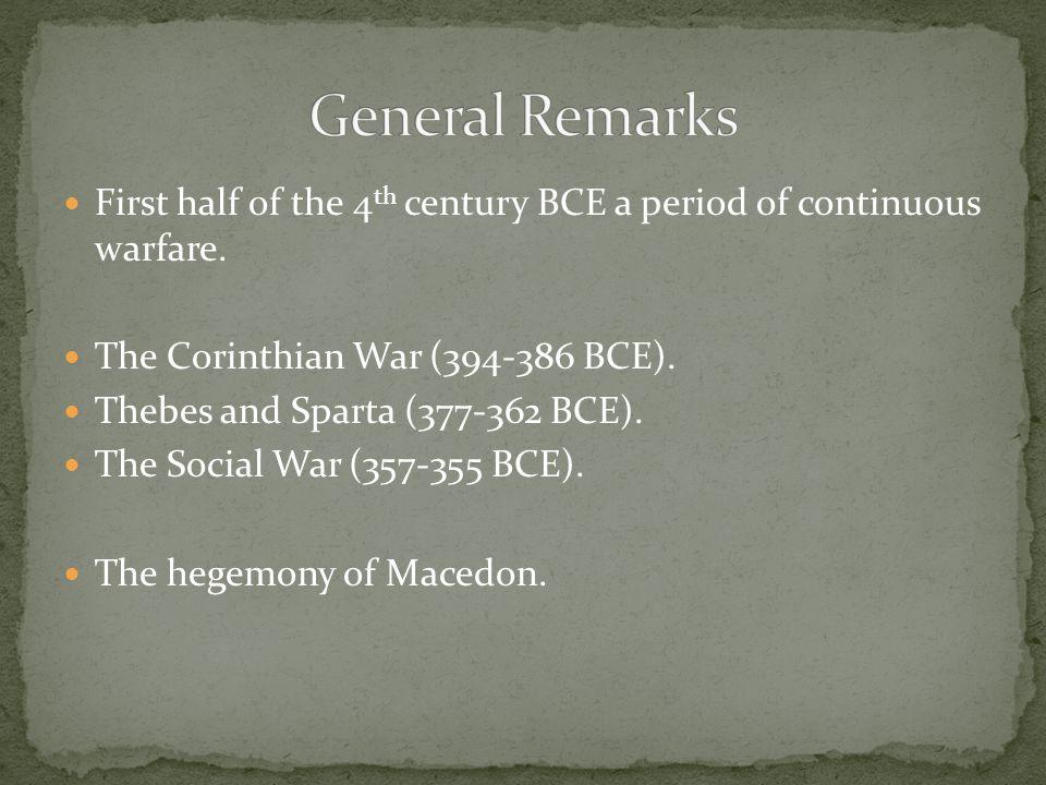 Sparta seeks hegemony until 371 BCE; seeking survival after 371 BCE.