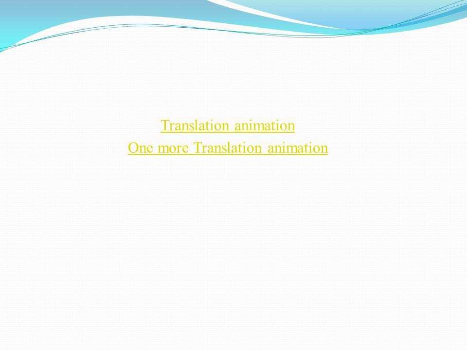 Translation animation One more Translation animation