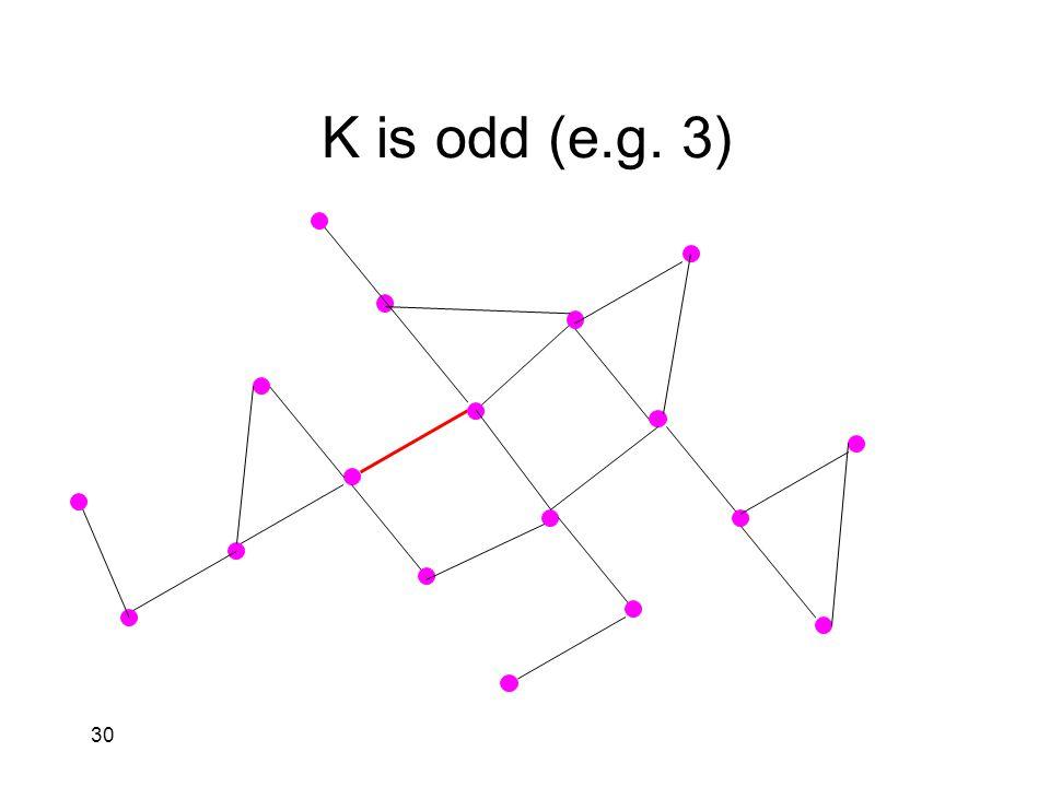 30 K is odd (e.g. 3)