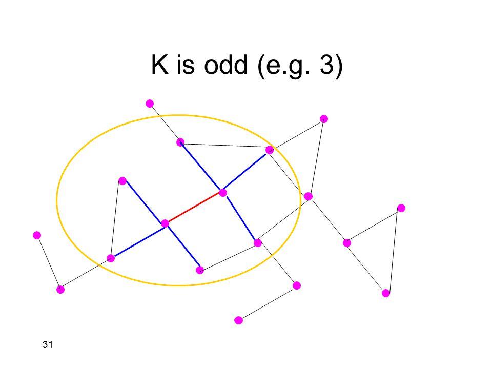 31 K is odd (e.g. 3)
