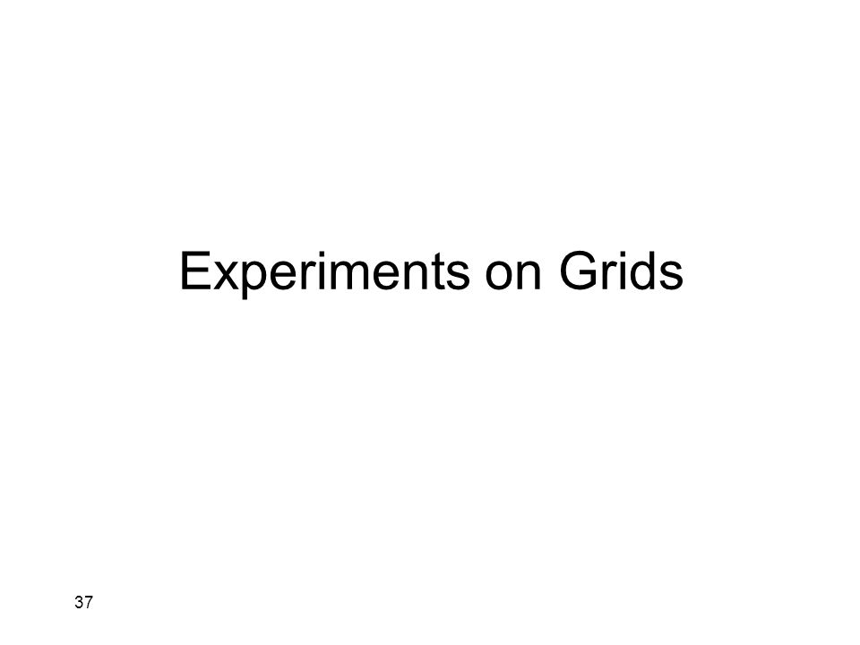 37 Experiments on Grids