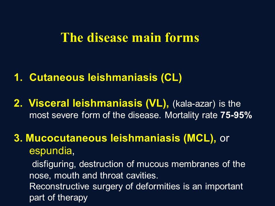 1.Cutaneous leishmaniasis (CL) 2.