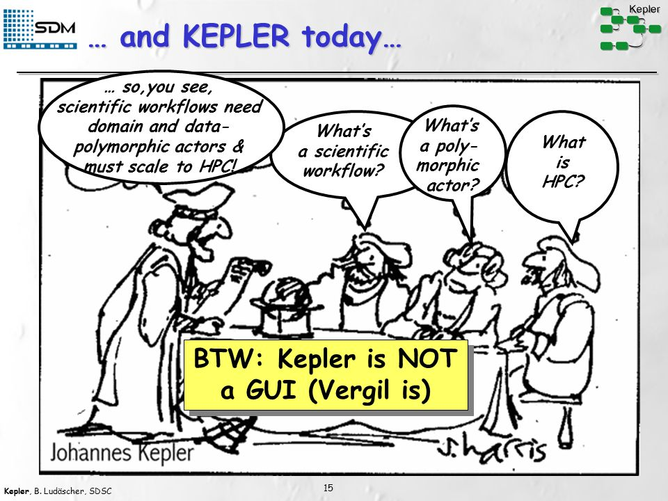 Kepler, B. Ludäscher, SDSC 15 … and KEPLER today… What is HPC.