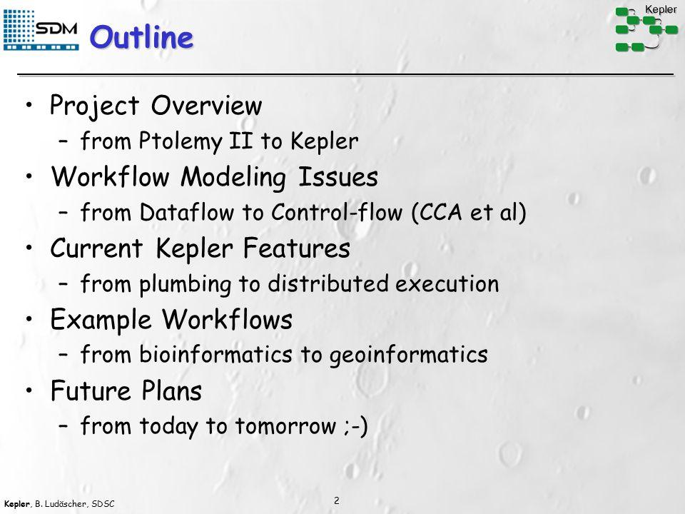 Kepler, B.Ludäscher, SDSC 3 What is a Scientific Workflow (SWF).