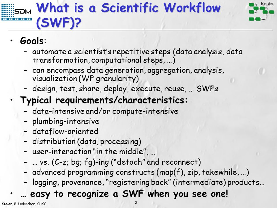 Kepler, B. Ludäscher, SDSC 4 Promoter Identification Workflow Source: Matt Coleman (LLNL)