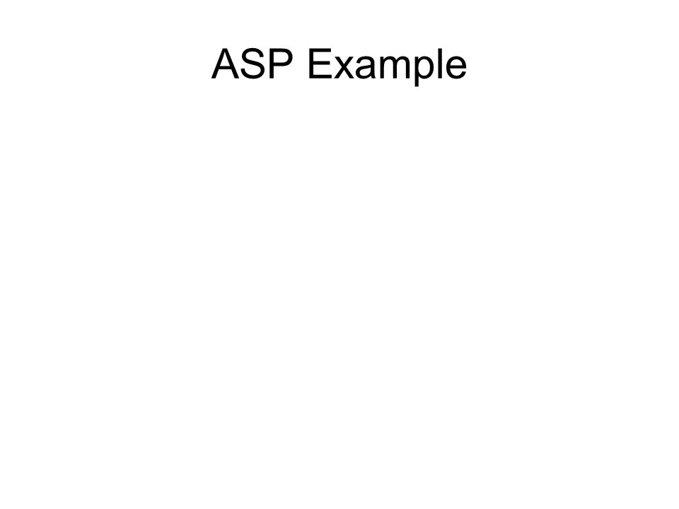 ASP Example