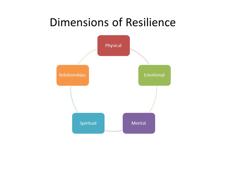 PhysicalEmotionalMentalSpiritualRelationships Dimensions of Resilience