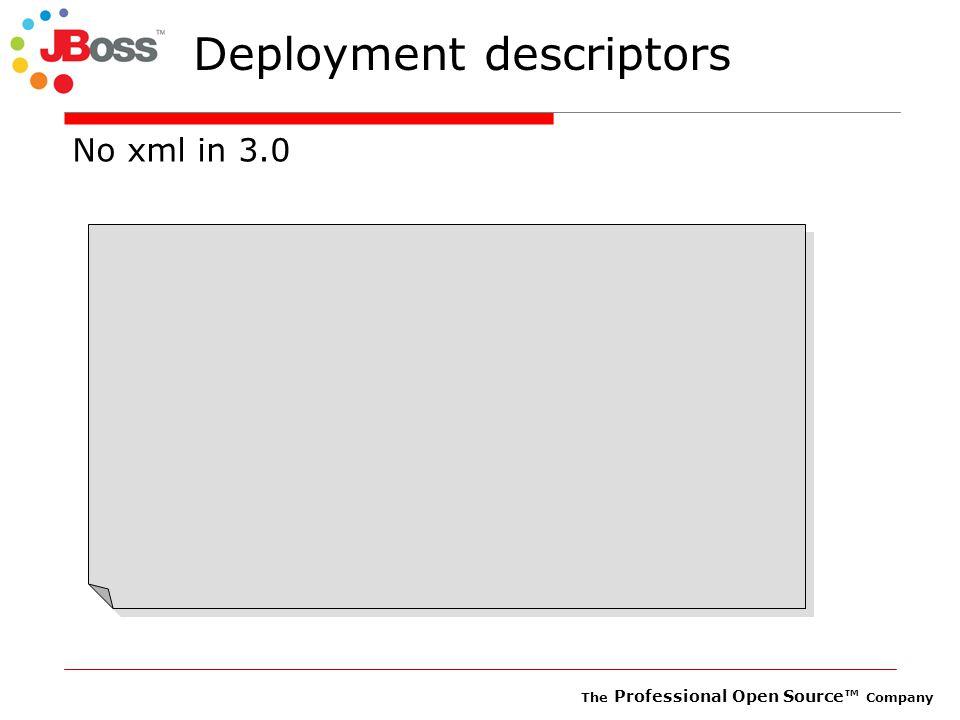 The Professional Open Source™ Company Deployment descriptors No xml in 3.0