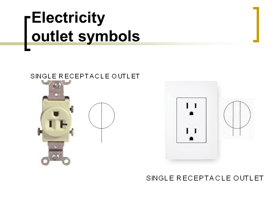 Electricity outlet symbols