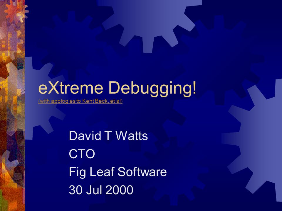 What is eXtreme Debugging.