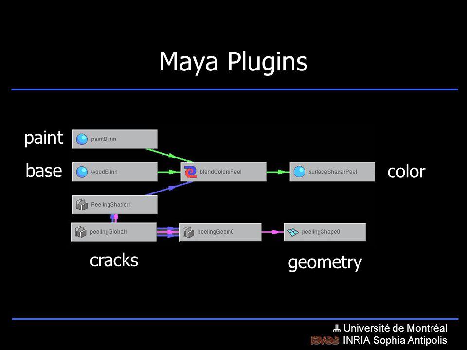 Université de Montréal INRIA Sophia Antipolis Maya Plugins paint base color geometry cracks