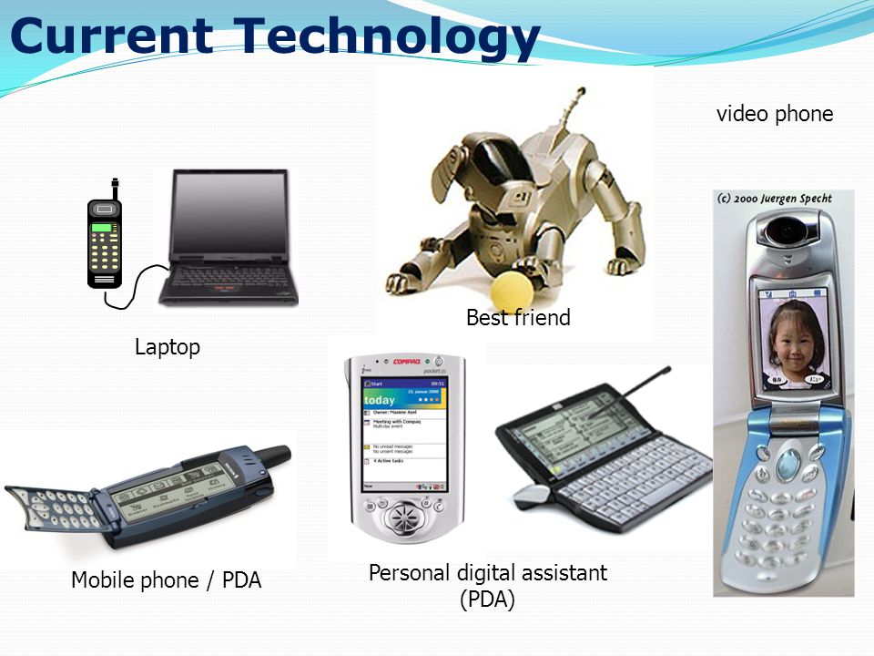 Current Technology Personal digital assistant (PDA) Mobile phone / PDA video phone Laptop Best friend