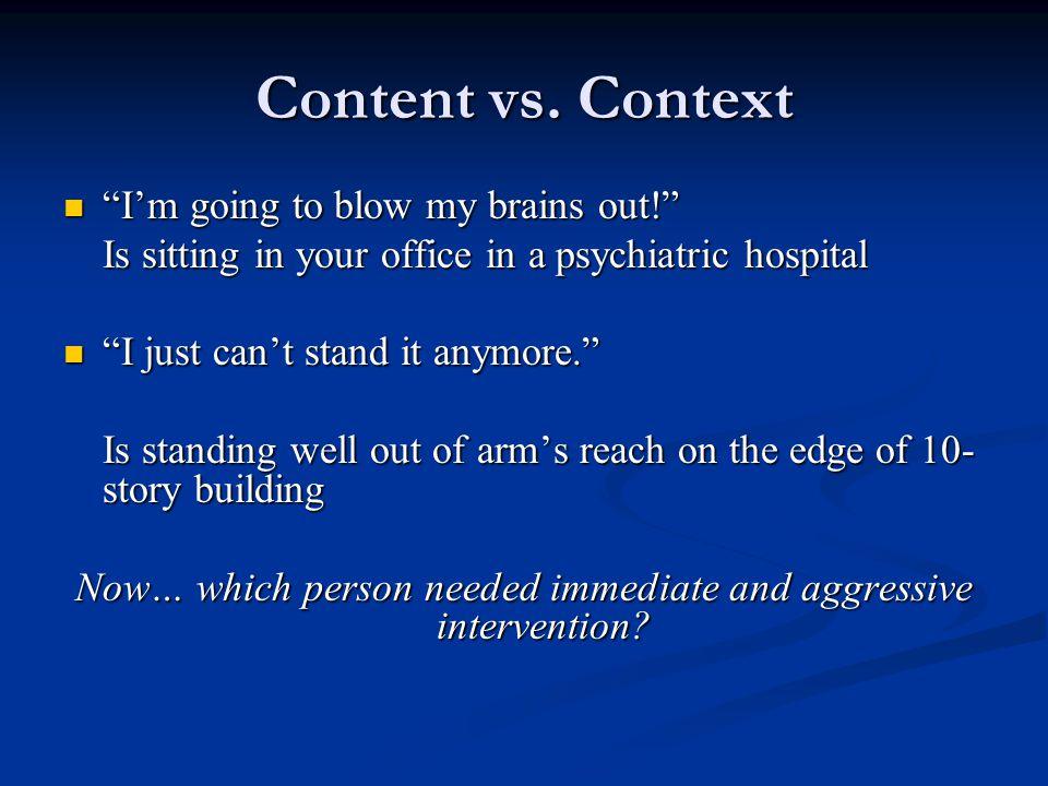 Content vs.