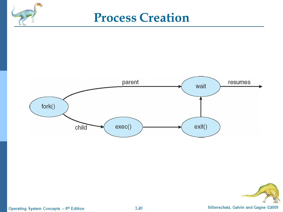 3.20 Silberschatz, Galvin and Gagne ©2009 Operating System Concepts – 8 th Edition Process Creation