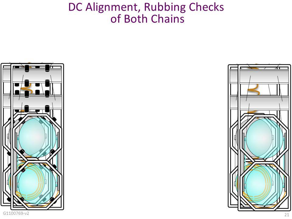 G1100769-v2 21 DC Alignment, Rubbing Checks of Both Chains
