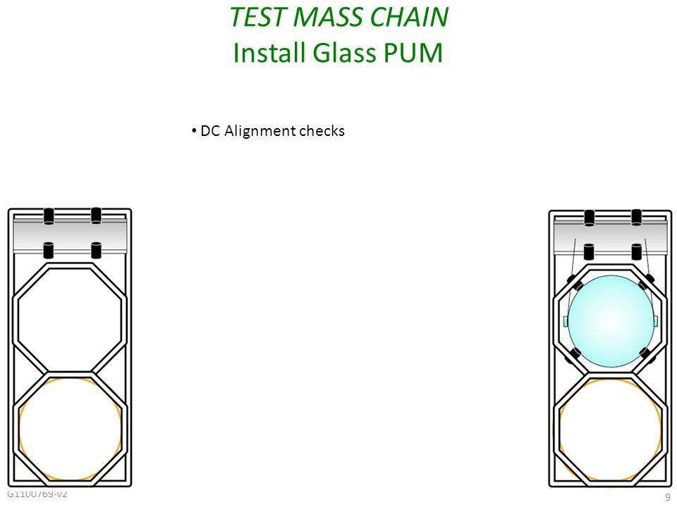 G1100769-v2 9 TEST MASS CHAIN Install Glass PUM DC Alignment checks