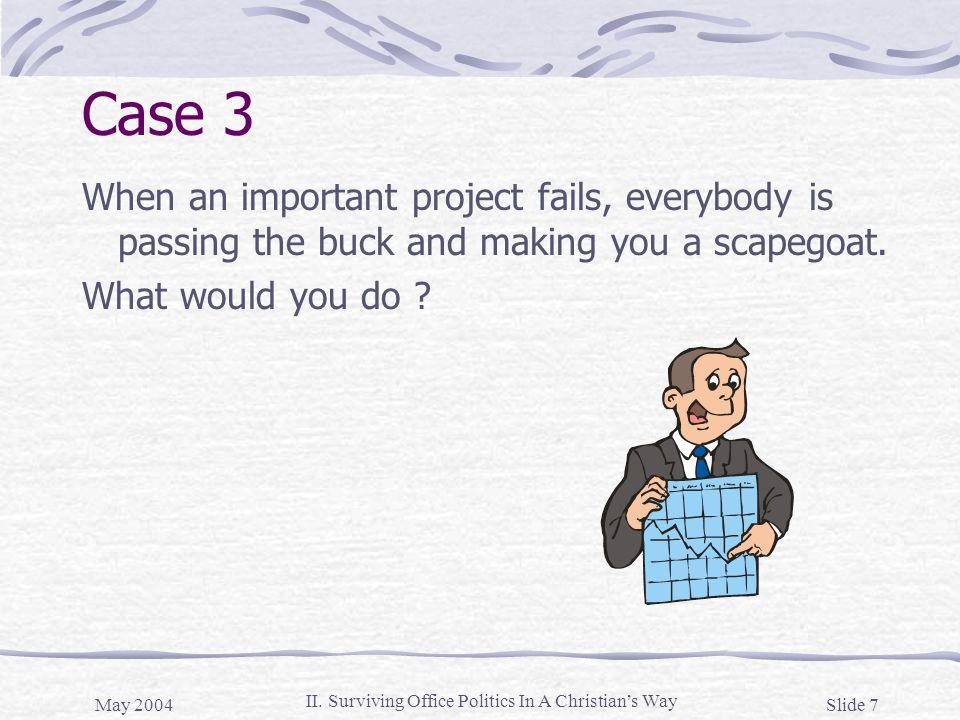 May 2004 Slide 18 II.