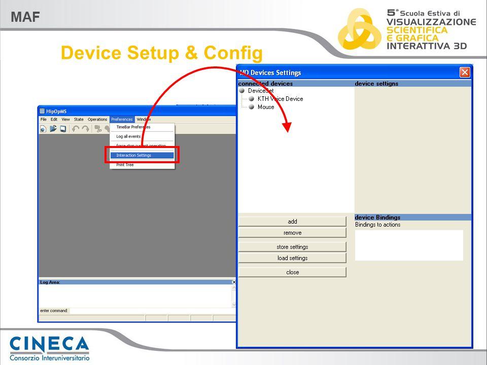 MAF Device Setup & Config