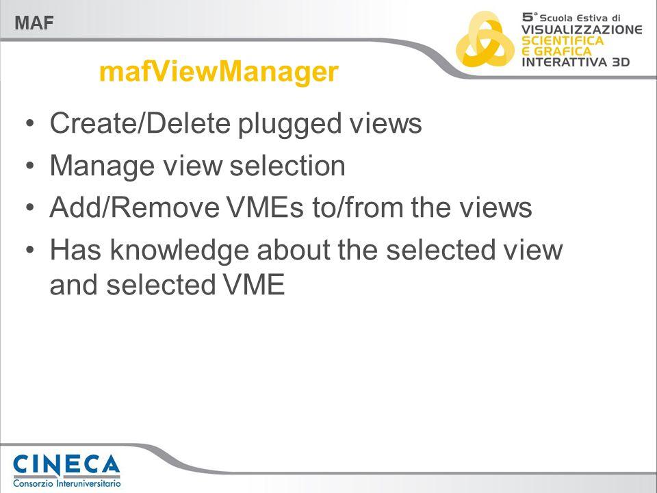 MAF VME 4D data structure VME consumers VME Parent VME Matrix Array Data Array Attributes Current Time 4x4 pose matrix 3D dataset Visual PIPE Render Window MAF View
