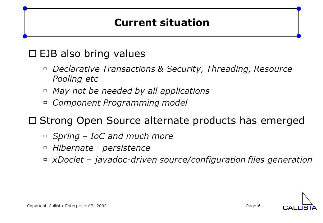 Copyright Callista Enterprise AB, 2005 Page:7 Java 5.0