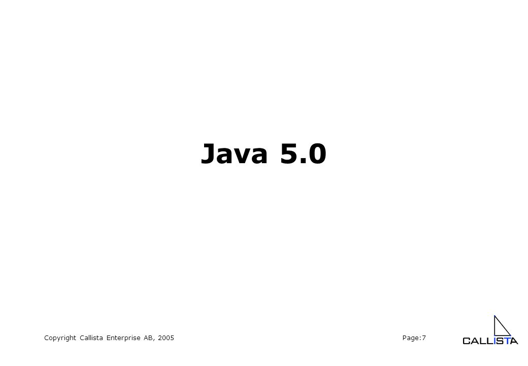 Copyright Callista Enterprise AB, 2005 Page:28 Entity Beans – one-to-many (2) OrderItem: @Entity public class OrderItem implements java.io.Serializable { private Order order; @ManyToOne @JoinColumn(name = order_id ) public Order getOrder(){ return order;} }