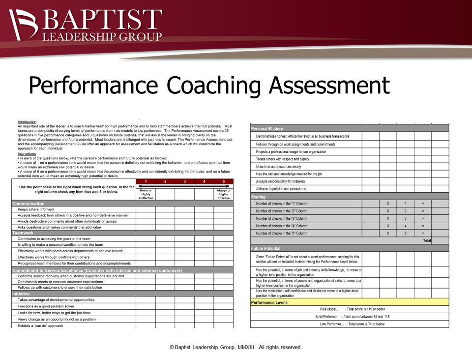 Performance Coaching Assessment