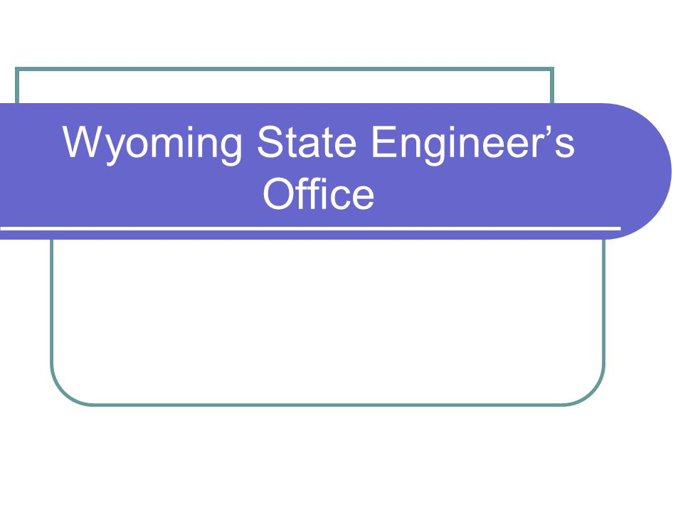 Wyoming State Engineer's Office