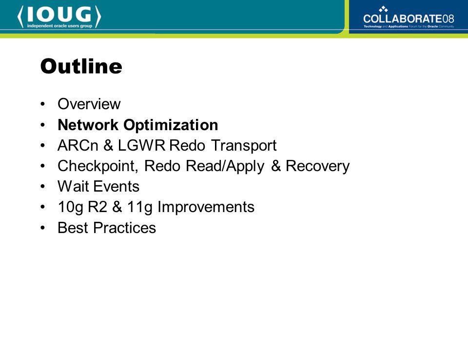 Session Data Unit (SDU) In Oracle Net connect descriptor: sales.servercare.com= (DESCRIPTION= (SDU=32767) (ADDRESS=(PROTOCOL=tcp) (HOST=sales-server)(PORT=1521)) (CONNECT_DATA= (SID=sales.servercare.com))) Globally in sqlnet.ora: –DEFAULT_SDU_SIZE=32767