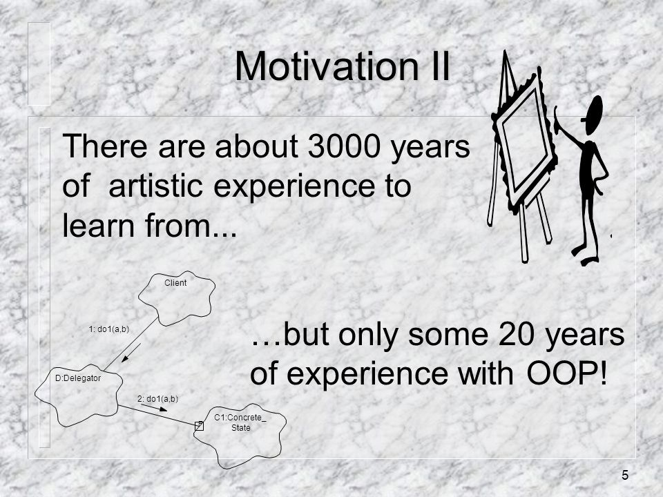 5 Motivation II There are about 3000 years of artistic experience to learn from...
