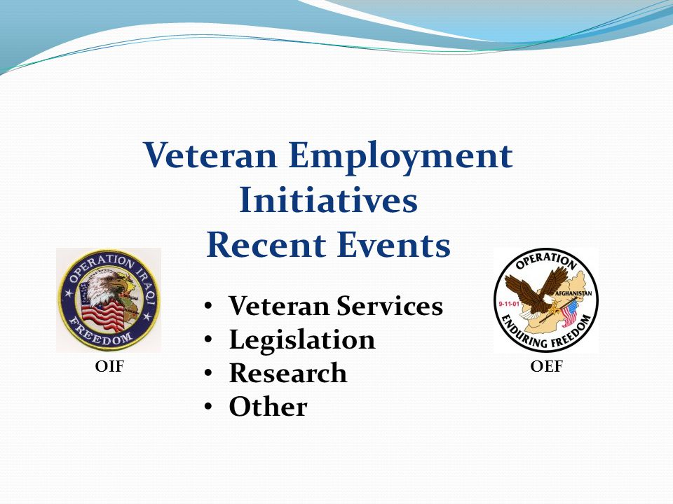 Chapter Meeting Topic Veteran Employment Speaker Veteran Employment Panel