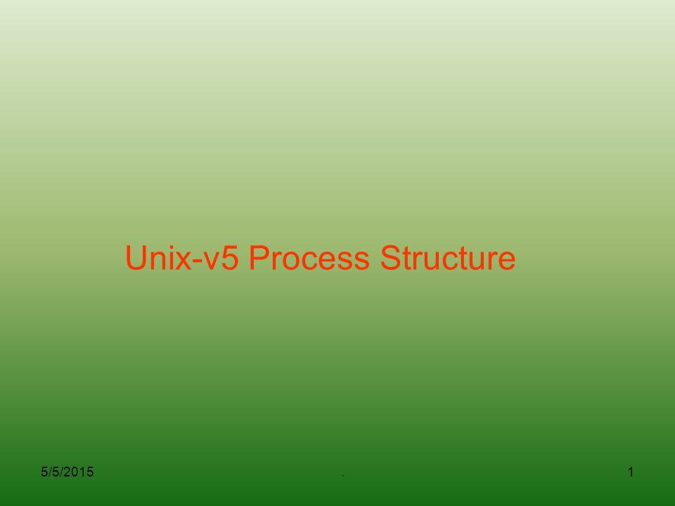 5/5/2015.1 Unix-v5 Process Structure