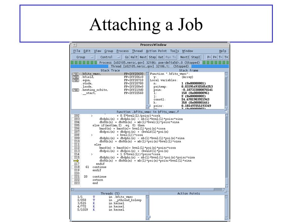 Attaching a Job