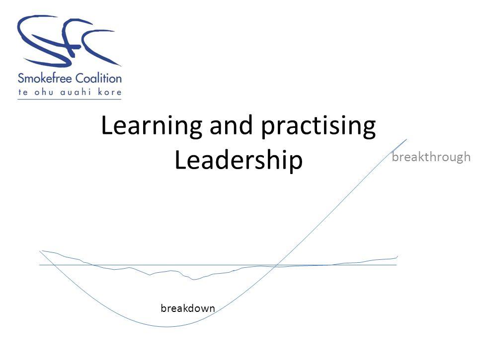 Learning and practising Leadership breakthrough breakdown