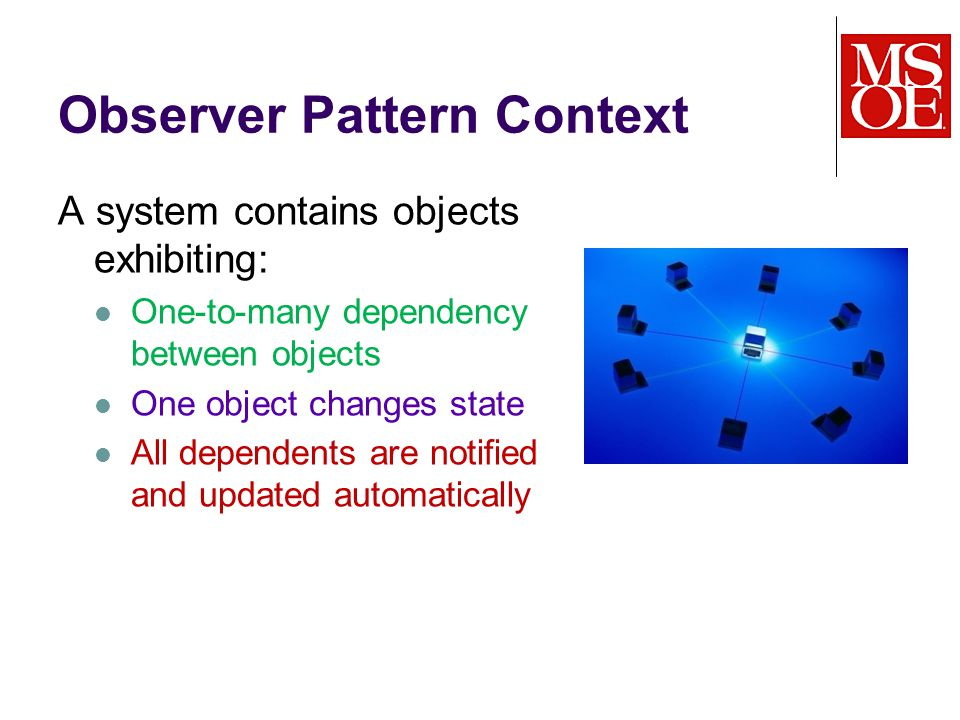 What are we trying to achieve with the Observer Pattern .