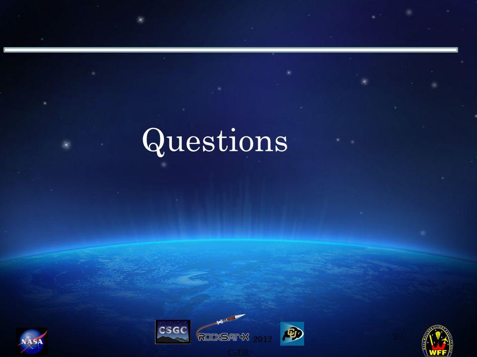2012 CoDR Questions 30