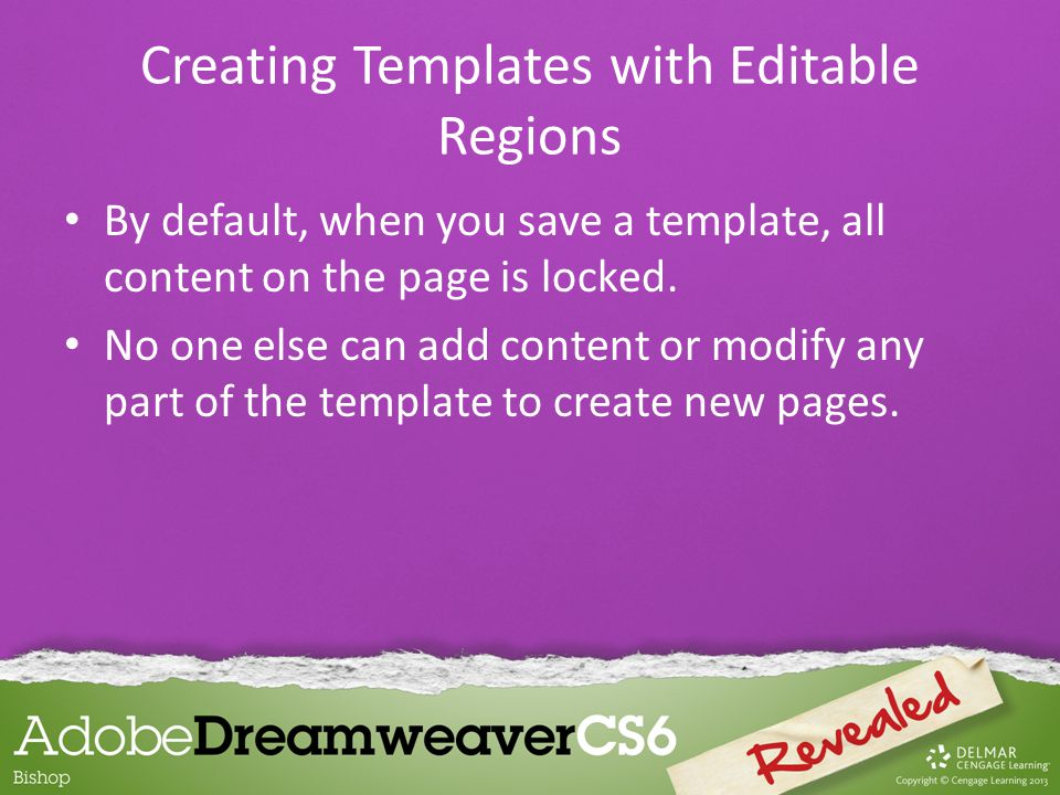 If your template will be used by many people, it might be a good idea to include several optional regions in it so that template users can pick and choose from a wide range of content elements.