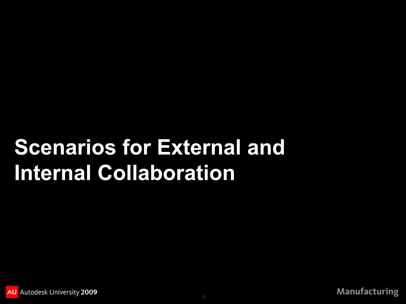 4 Scenarios for External and Internal Collaboration