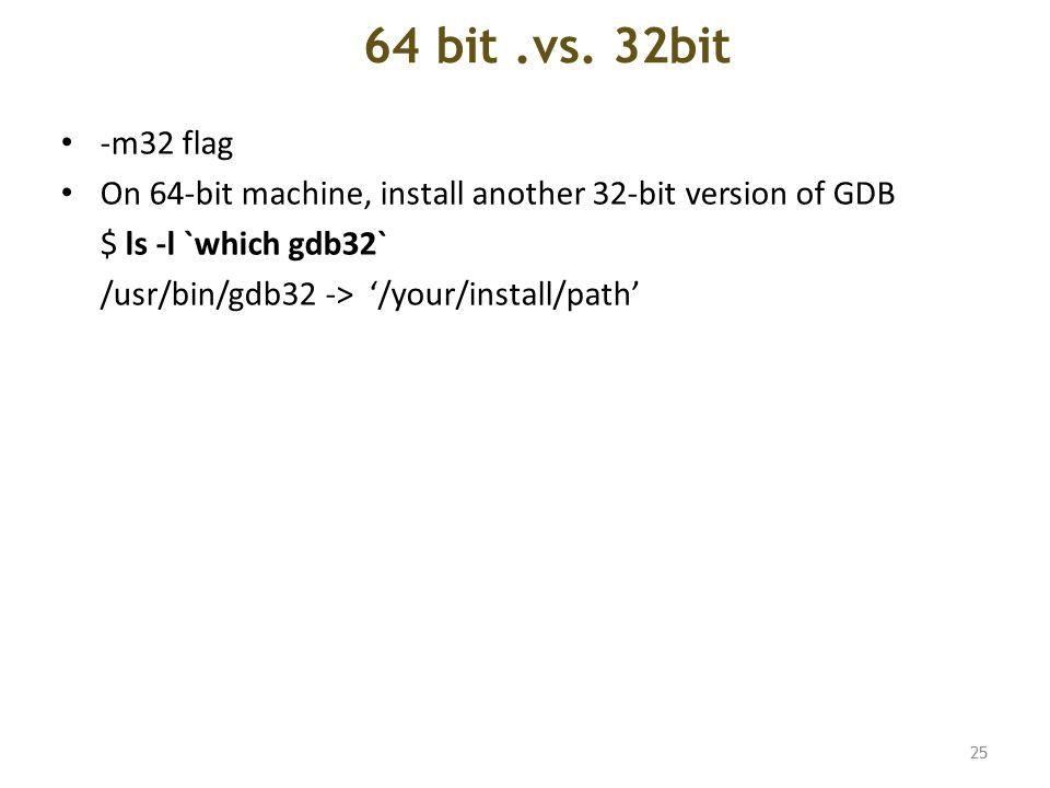 64 bit.vs.