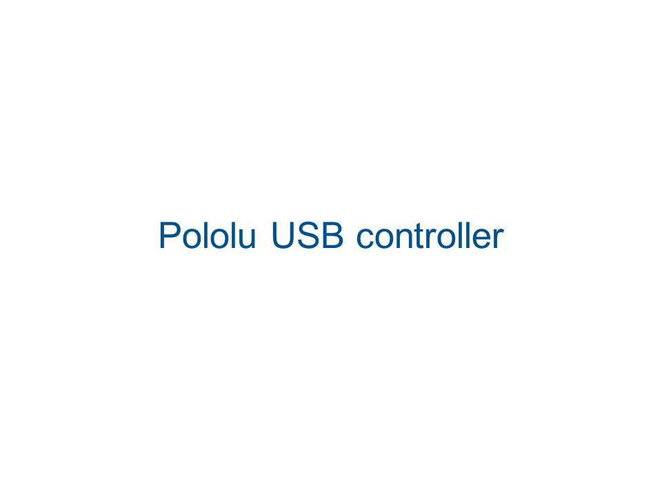 Pololu USB controller