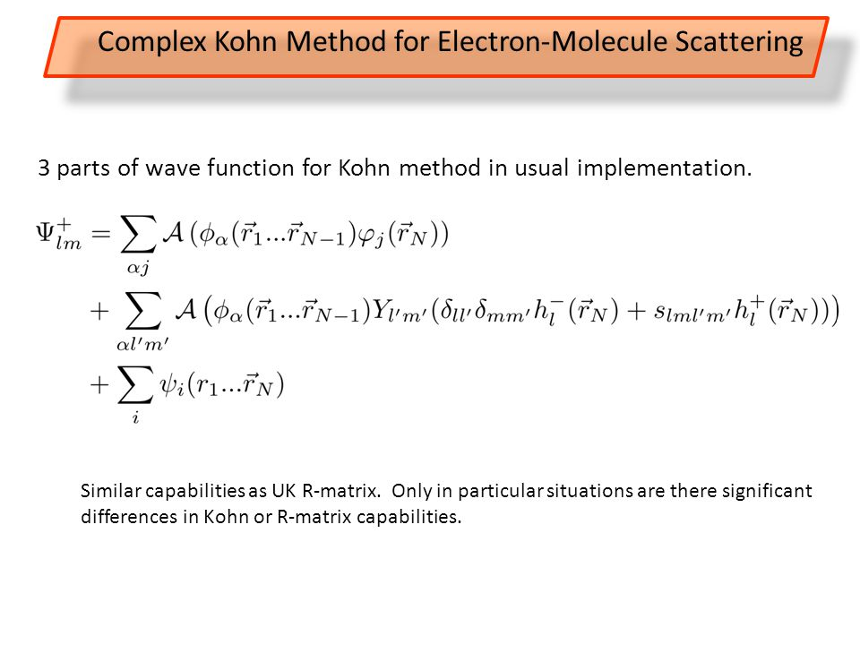 3 parts of wave function for Kohn method in usual implementation.