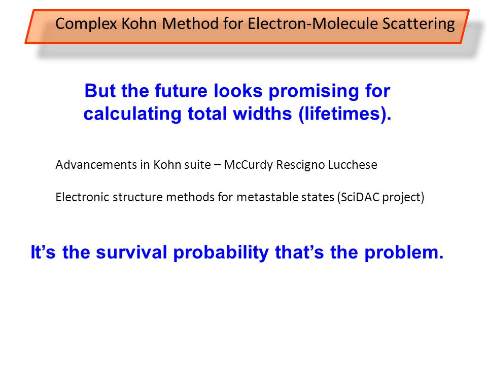 But the future looks promising for calculating total widths (lifetimes).