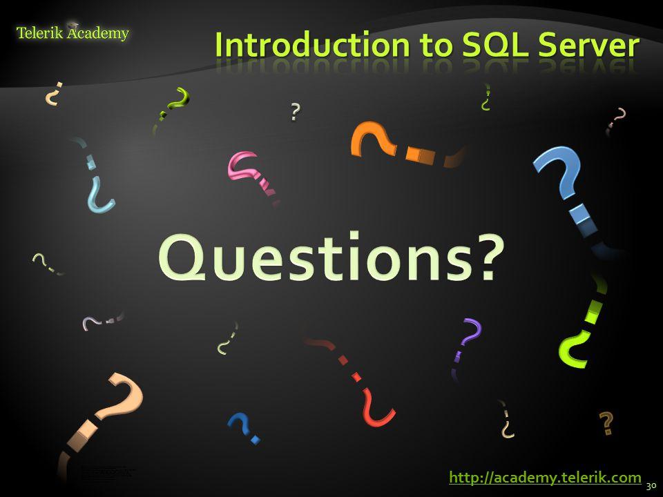 форум програмиране, форум уеб дизайн курсове и уроци по програмиране, уеб дизайн – безплатно програмиране за деца – безплатни курсове и уроци безплатен SEO курс - оптимизация за търсачки уроци по уеб дизайн, HTML, CSS, JavaScript, Photoshop уроци по програмиране и уеб дизайн за ученици ASP.NET MVC курс – HTML, SQL, C#,.NET, ASP.NET MVC безплатен курс Разработка на софтуер в cloud среда BG Coder - онлайн състезателна система - online judge курсове и уроци по програмиране, книги – безплатно от Наков безплатен курс Качествен програмен код алго академия – състезателно програмиране, състезания ASP.NET курс - уеб програмиране, бази данни, C#,.NET, ASP.NET курсове и уроци по програмиране – Телерик академия курс мобилни приложения с iPhone, Android, WP7, PhoneGap free C# book, безплатна книга C#, книга Java, книга C# Николай Костов - блог за програмиране http://academy.telerik.com 30
