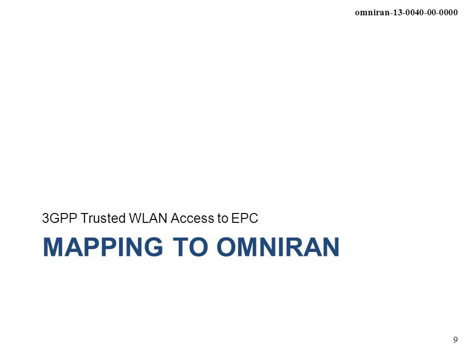 omniran-13-0040-00-0000 9 MAPPING TO OMNIRAN 3GPP Trusted WLAN Access to EPC