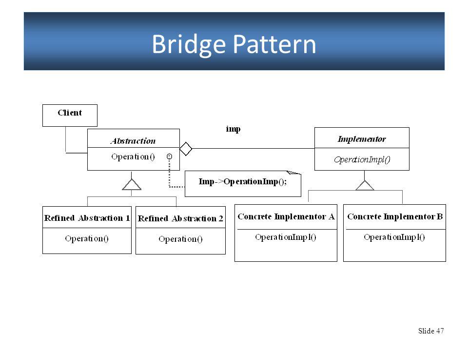 Slide 47 Bridge Pattern
