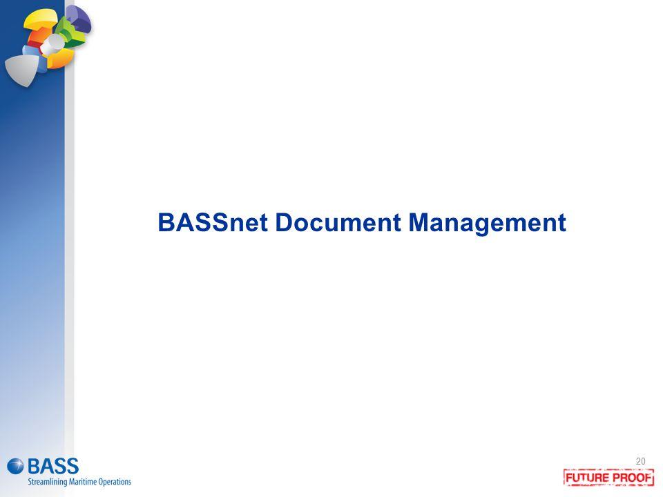 BASSnet Document Management 20