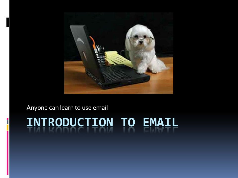 Anyone can learn to use email