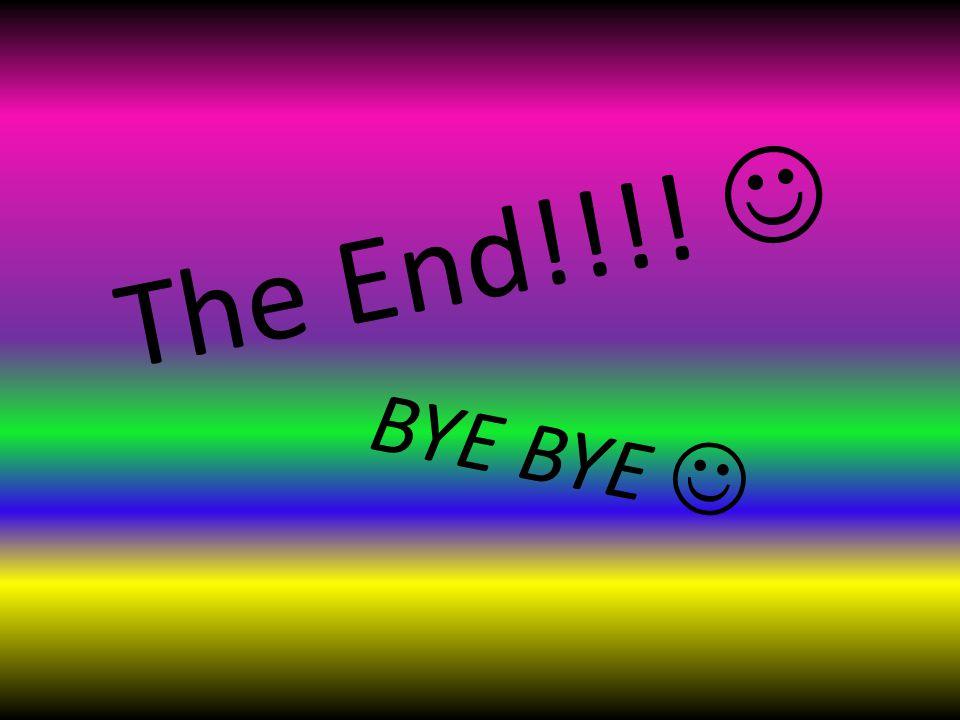 T h e E n d ! ! ! ! BYE BYE